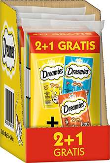 Amazon Sparabo Dreamies Katzensnacks 2 plus 1 Gratis, 9 Beutel