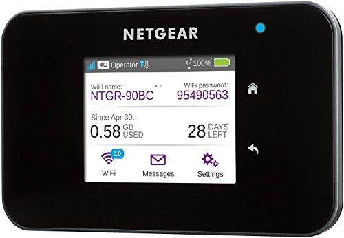 [amazon.de] NETGEAR AC810-100EUS Aircard 810 Mobile Hotspot Router (4G LTE, Cat 11, 600MBit/s, 11ac, Powerbank, ohne SIM-Lock) schwarz