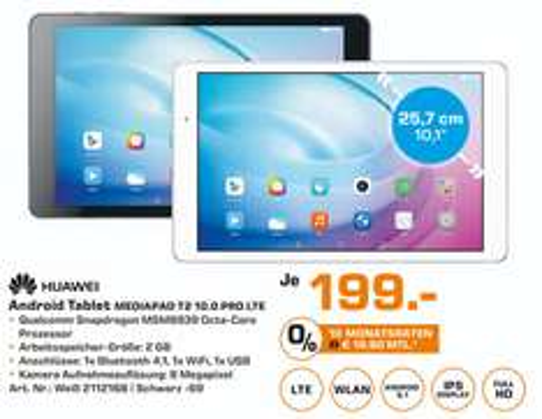 [Saturn Stuttgart]Android Tablet Huawei Mediapad T2 10.0 Pro LTE