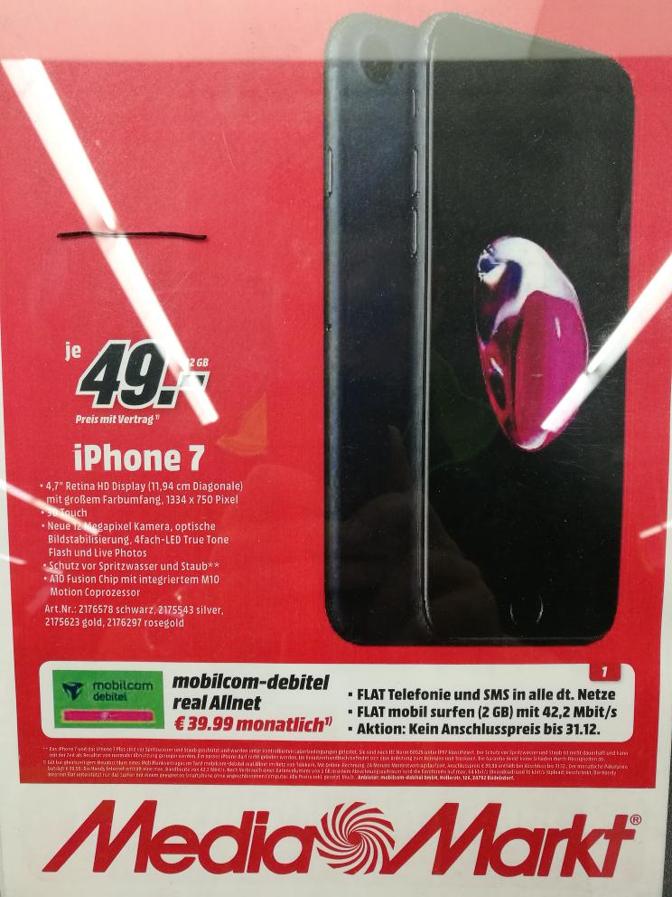 iphone 7  mit Allnet Flat (D1)