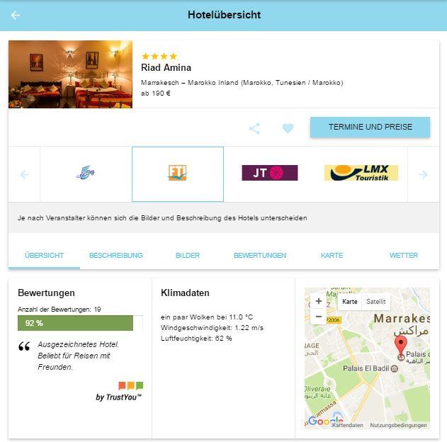 Marrakesch Kurztrip- 3 Nächte inkl. Flug und Hotel ab 190€ p.P