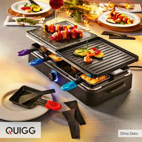 [Aldi Nord ab 19.12.] Raclette für bis zu 8 Personen mit heißem Stein und Grillplatte