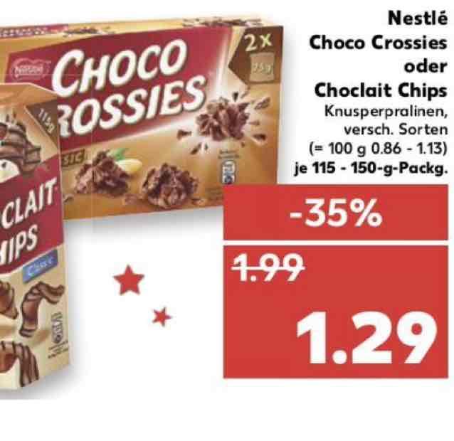 Nestle choco crossies kaufland ab Donnerstag