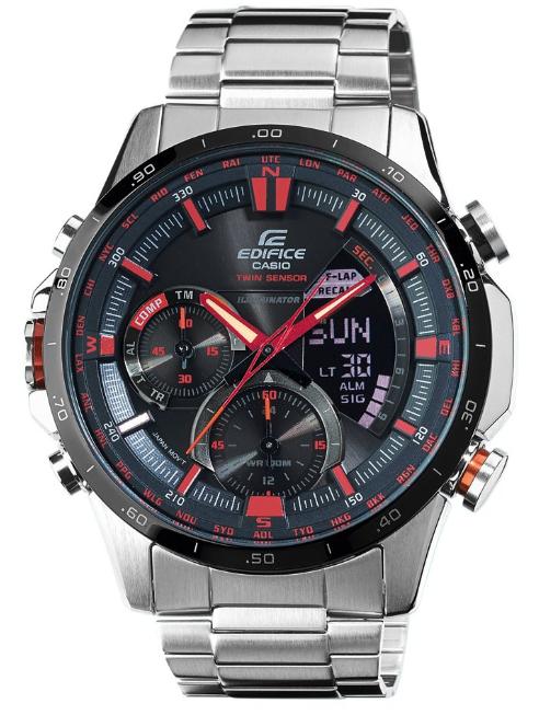 Casio Edifice ERA-300DB-1AVER Herren Edelstahl-Chronograph mit Thermometer und Kompassfunktion für 179€ [uhrzeit.org]