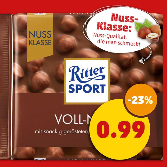 (Penny) Ritter Sport NUSS-Klasse im Angebot für nur 0,99€