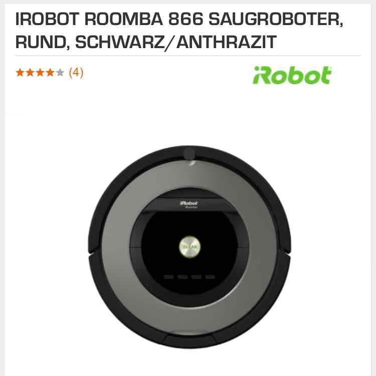 iRobot Roomba 866 für 399€ bei Saturn - Staubsaugerroboter
