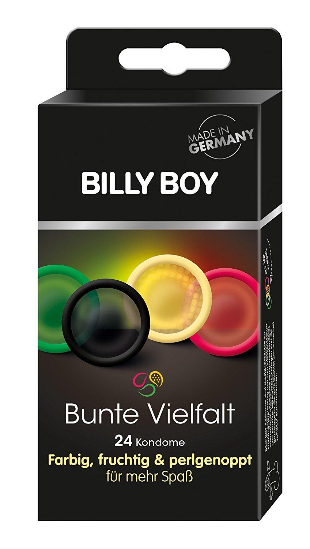 Blitzangebot: Billy Boy Bunte Vielfalt 24er - farbige, fruchtige und perlgenoppte Kondome