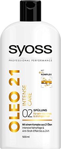 Amazon Prime: 2 zum Preis von 1:  Syoss Spülung Oleo 21 Intense Care, 2er Pack (2 x 500 ml)