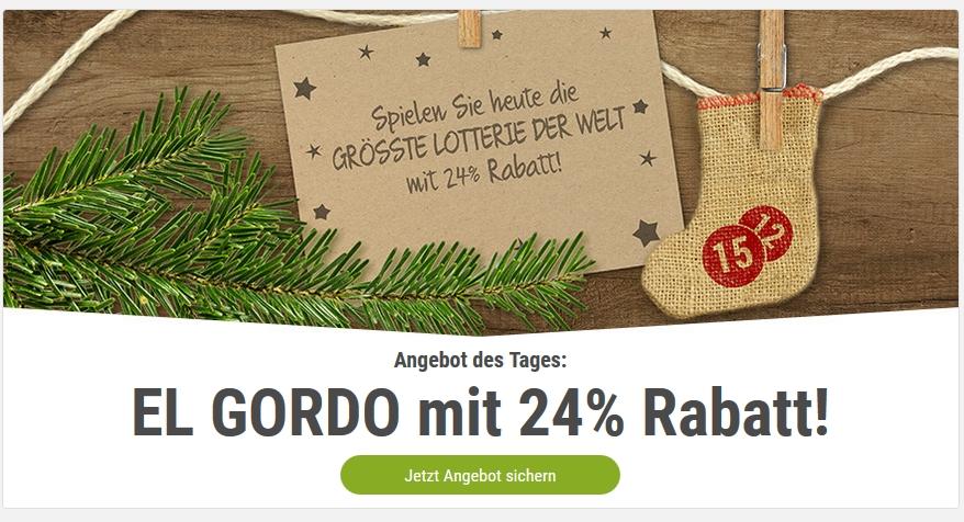 """Tipp24 - Heute 24% Rabatt auf ein Los der spanischen Weihnachtslotterie """"El Gordo"""""""