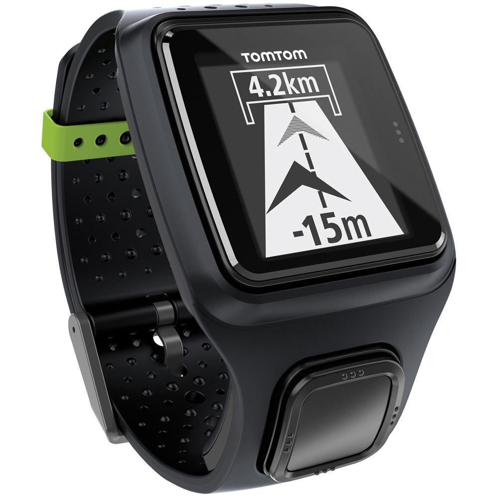 TomTom Runner GPS - Laufuhr mit GPS Quickfix und Brustgurt-Anbindung (schwarz)