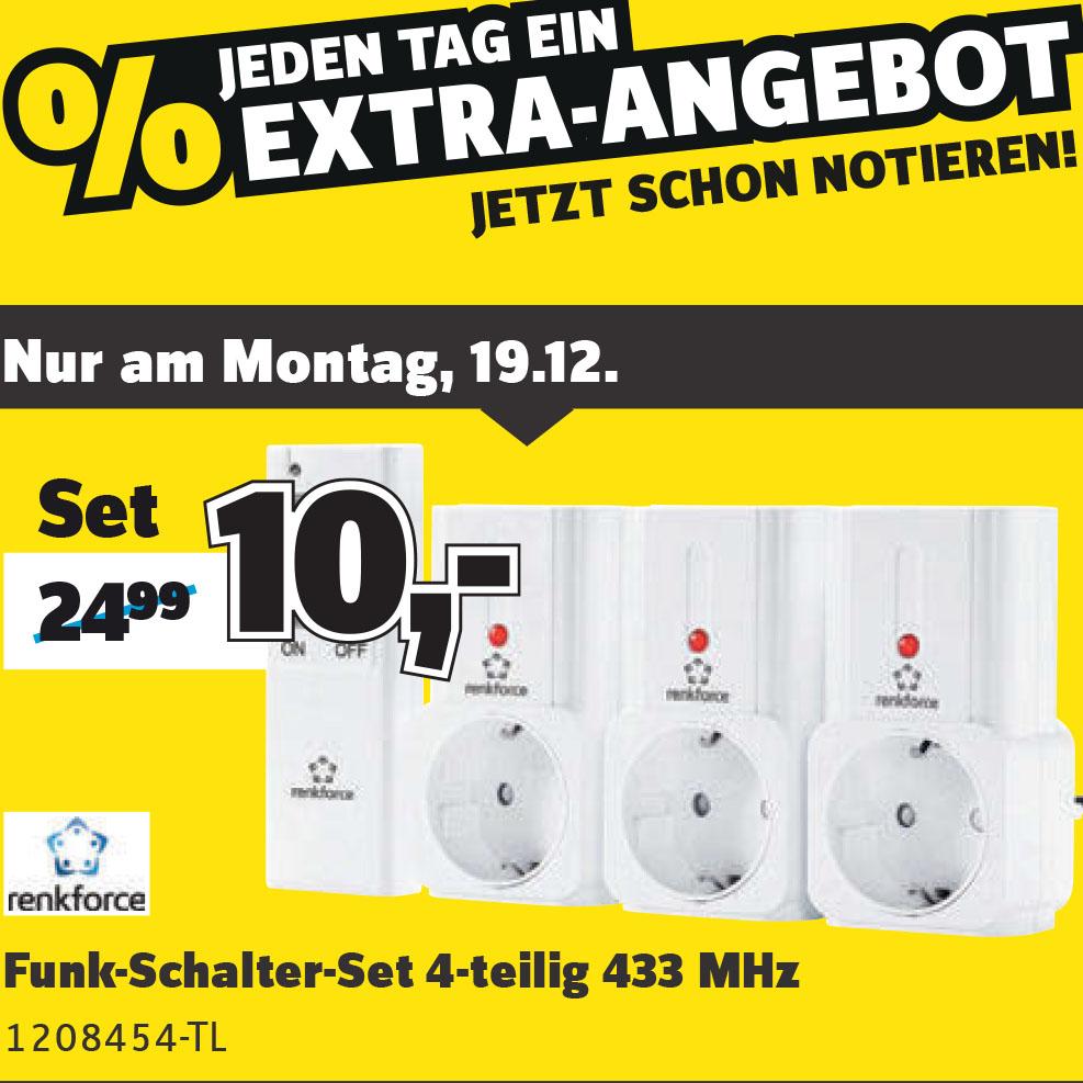 (Conrad am Montag) Funk-Schalter-Set 4-teilig statt 24,99€ nur 10€