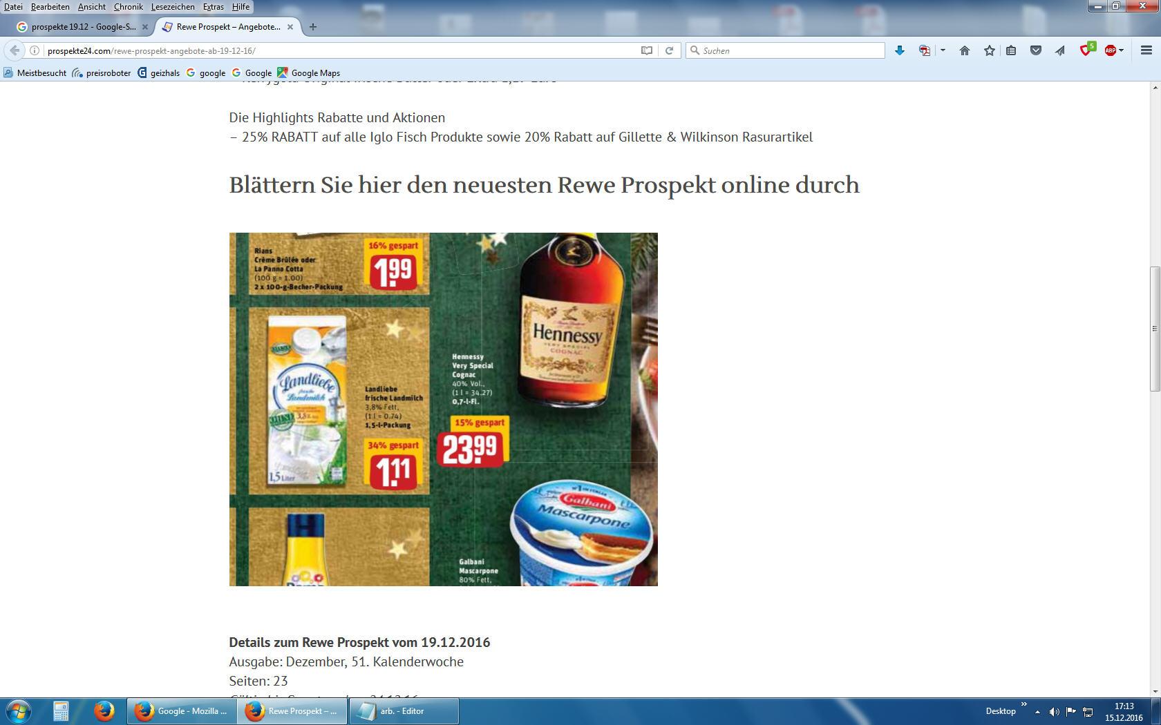 REWE - 1,5 L Landliebe frische Landmilch bei 12 x mit Coupon ~ 1 L 0,64 Euro