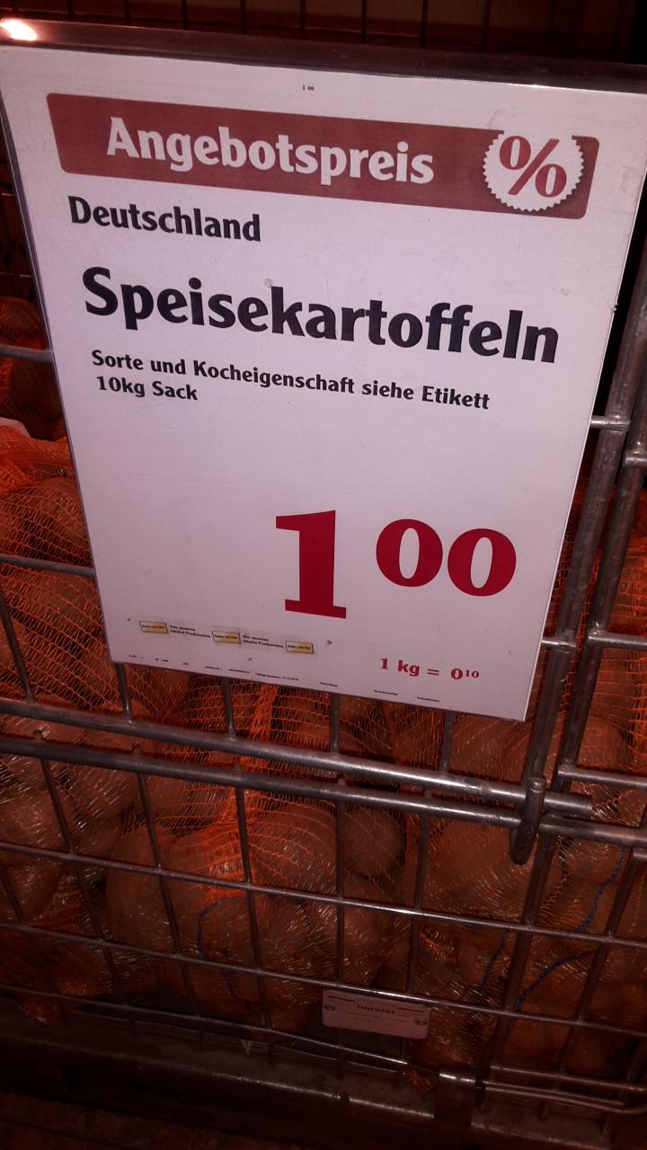 [Globus Gensingen ggf bundesweit] 10 kg Kartoffeln für 1 Euro (0,10 €/kg)