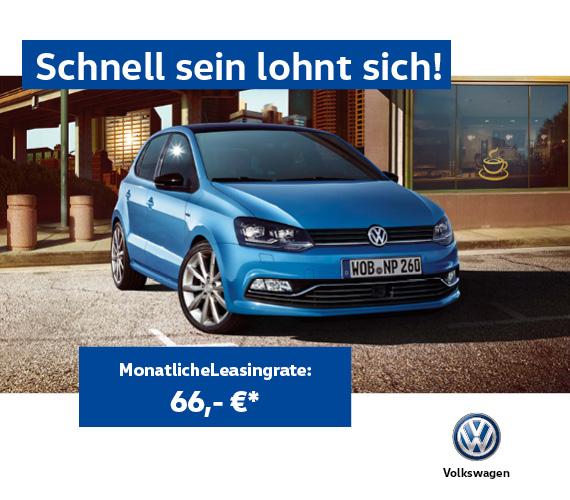 Der VW Polo im Geschäftskundenleasing ab 66,- € monatlich - 10T km p.a. - 24M Laufzeit - 666€ Anzahlung