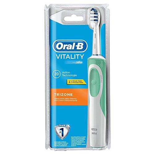 Oral-B Vitality Elektrische Zahnbürste TriZone (wiederaufladbare Zahnbürste mit Timer, TriZone Aufsteckbürste, Sichtverpackung, Amazon prime