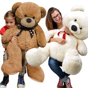 EBAY / 1m großer Teddybär in weiß oder braun 19,95€ inkl. VSK