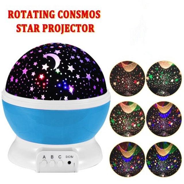 Nachtlicht Projektor Sterne / Mondhimmel
