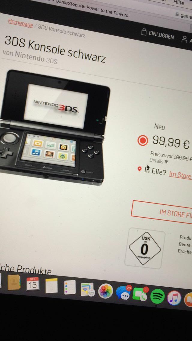 Gamestop Stuttgart Nintendo 3DS