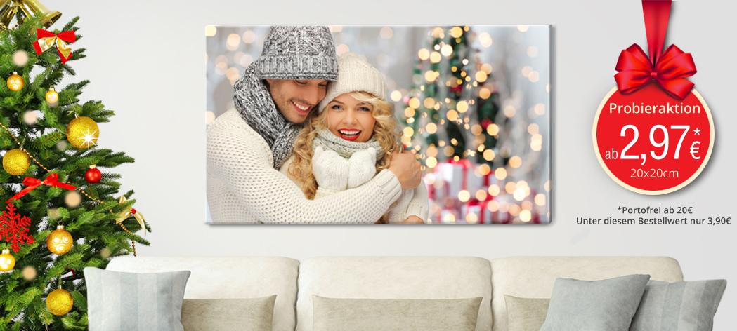 [Postersmile.de] Foto Leinwand 120x80  + 20x20 cm für zusammen 22,94€ inkl. Versand & Aufhängung