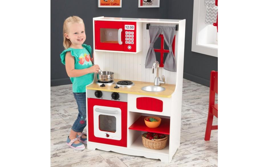 Kidkraft Kinder Spielküche 53299 Country Style in Rot für 68,89€ - idealo 99,99€