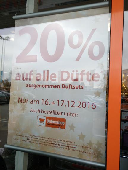 [Müller Offline + Online] 20% auf alle Düfte am 16 + 17.12