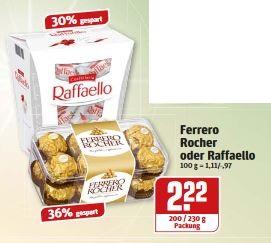 Rewe Dortmund - Rocher 200g und Raffaello 230g vom 12.12. bis 17.12. für 2,22€