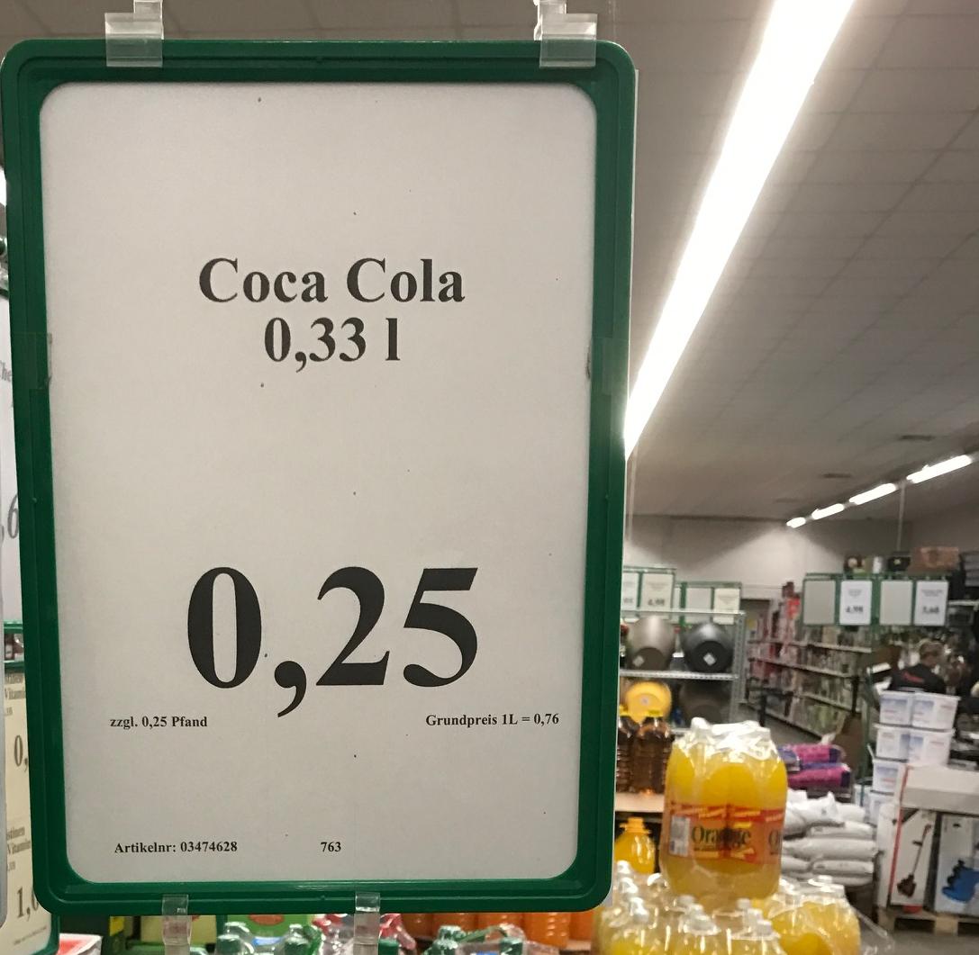 LOKAL Thomas Philipps Groß Kiesow / Greifswald - Coca Cola 0,33l Flasche für  0,25€ zzgl. Pfand (MHD 31.01.17)