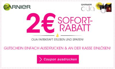 Garnier Olia Haarfarbe für effektiv 0,25€ bei DM