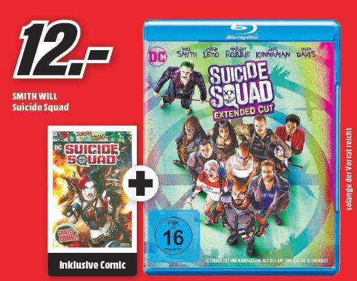 [Lokal Mediamarkt Porta ab 17.12] Suicide Squad Extended Cut [Blu-ray] + Gratis Comic für 12,-€