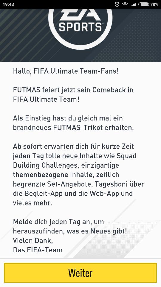 FIFA 17 Ultimate Team - Geschenke bzw FUTMAS