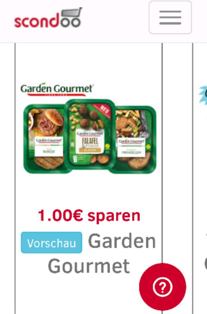 SCONDOO ADVENTSKALENDER LEAK - Tür 18 - 1€ Rabatt auf Garden Gourmet