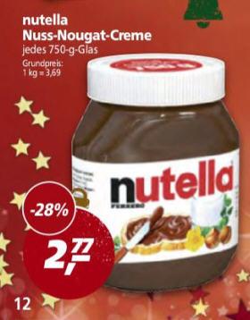 REAL - Nutella 750gr. Glas
