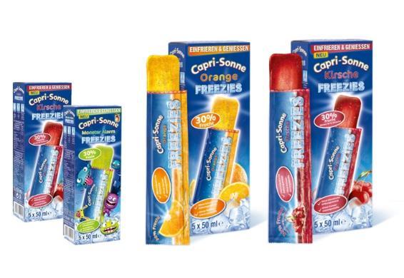 [@DC] 11 Packungen Capri-Sonne Freezies mit jeweils 5 Stück Inhalt (je 50ml) und Geschmacksauswahl