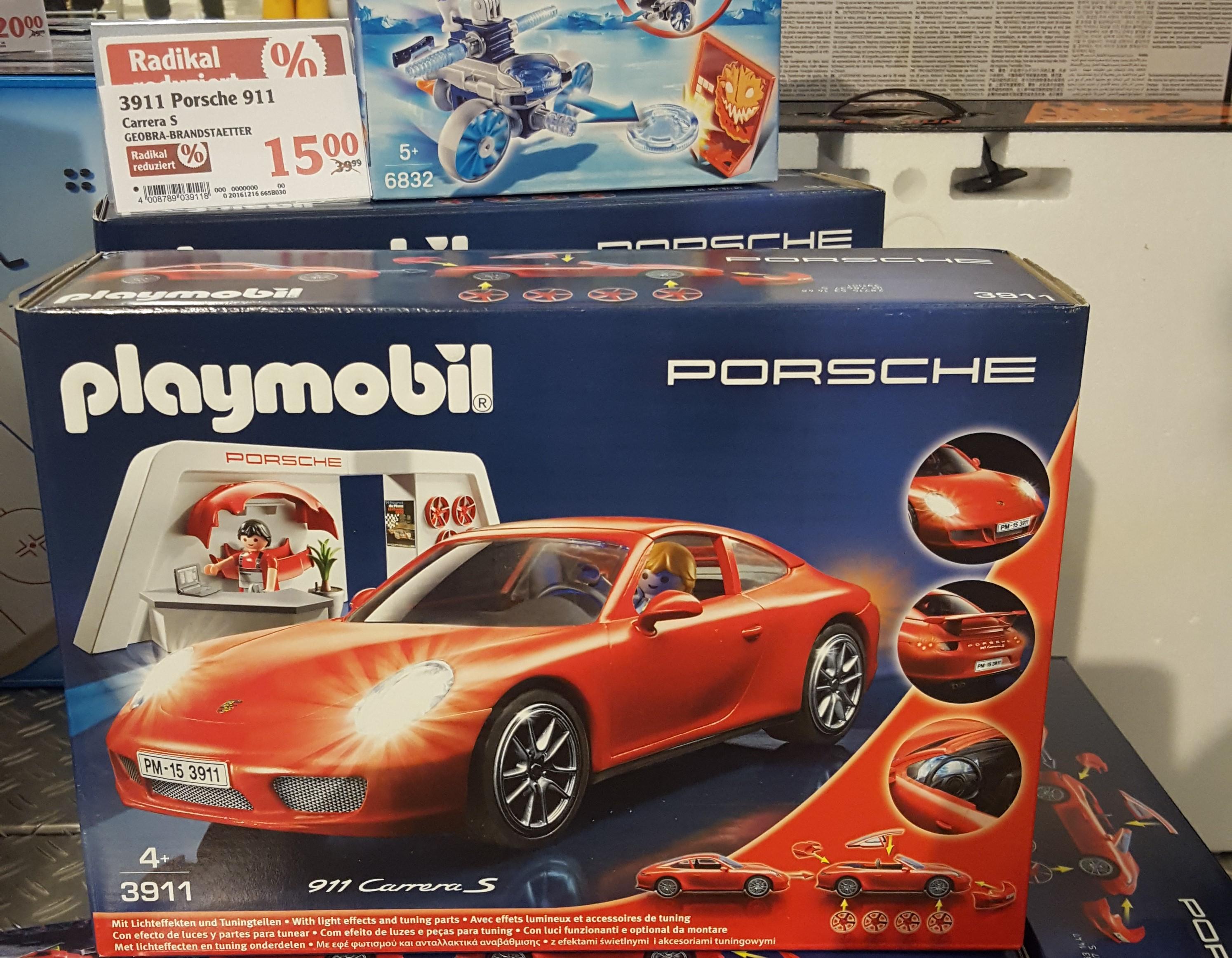 Playmobil Porsche 911 Carrera S 3911 nur 15€ Globus WND