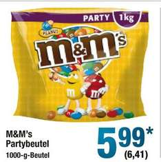 [Metro] M&Ms Peanuts- 1KG Beutel für minimale 6,41€. Angebot ab 29.12