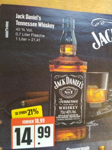 [Edeka Nord] Jack Daniel's No.7 je Flasche 0,7l