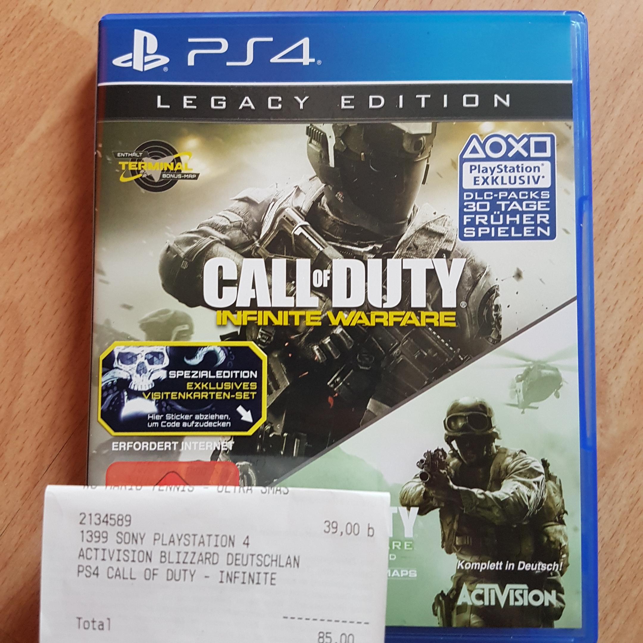 [LOKAL MEDIA MARKT AALEN] Call of Duty: Infinitiv Warefare Legacy Edition PS4