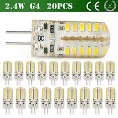 [Amazon PRIME] 20 x G4 LED Epistar 3W Birne Warmweiß/Kaltweiss  0,25 €/Stck.