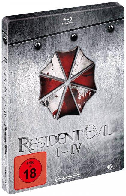 [Mediamarkt] Resident Evil I-IV - Quadrilogy Steelbook Edition [Blu-ray] für 39,99€ bei Abholung