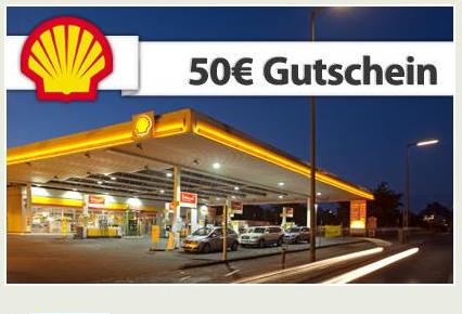 Shell Tankgutschein 50€ für 48€ bei Shoop