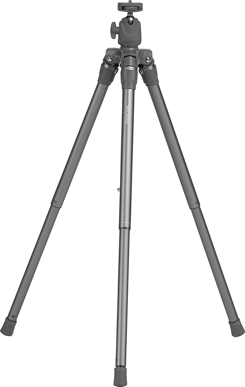 Rollei Compact Traveler Star S3 Plus - Reisestativ mit integriertem Kugelkopf und umkehrbarer Mittelsäule für Makroaufnahmen - Anthrazit/Silber für 33,99€ @Amazon