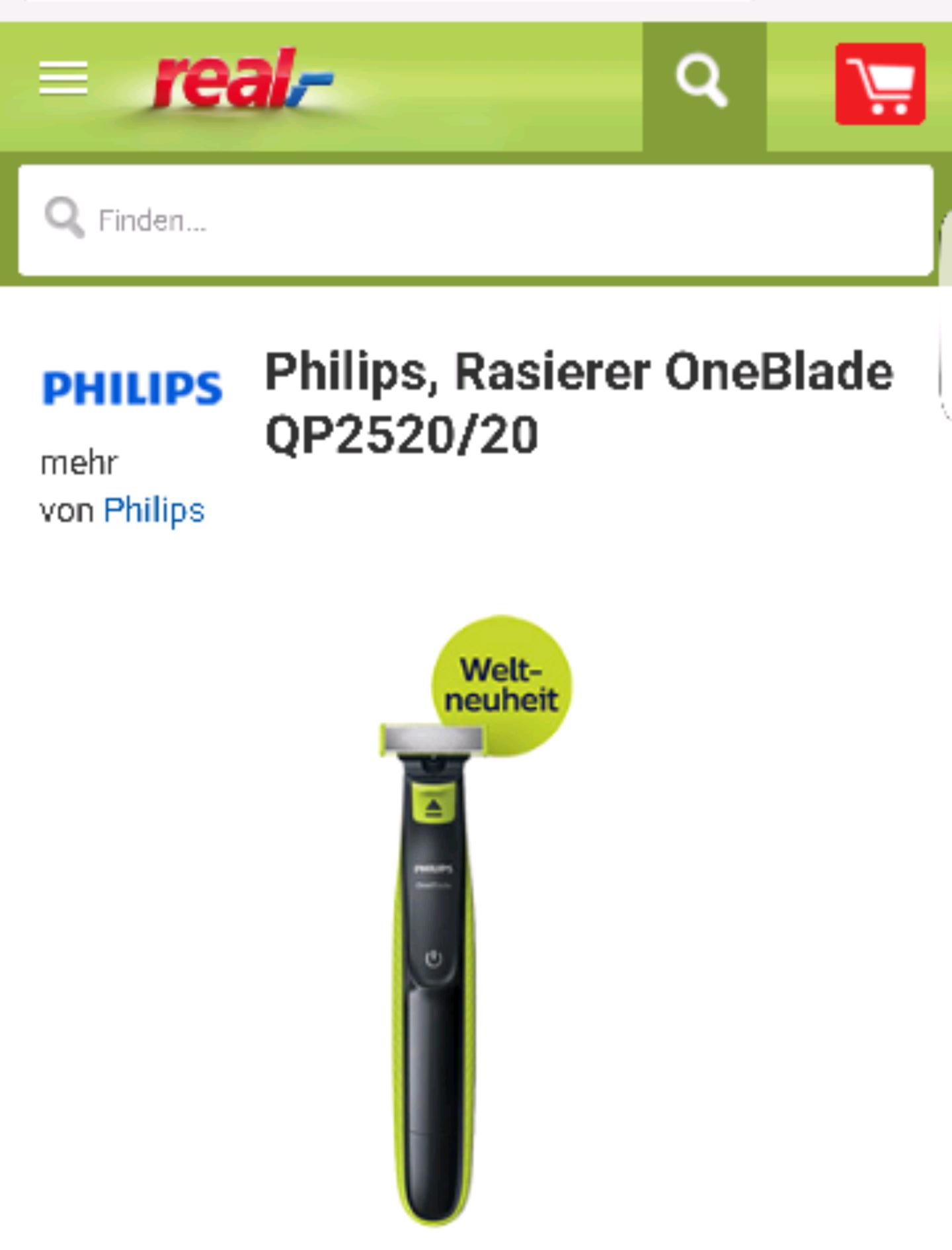 Philips OneBlade für 34.99 Euro. Inklusive Versand.