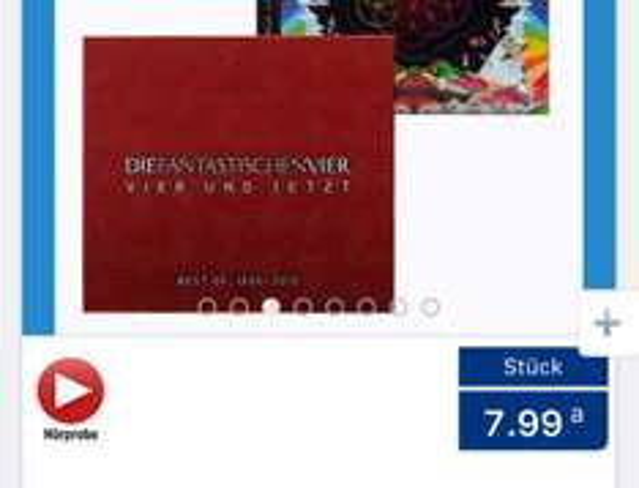 [Aldi Nord] Vier und Jetzt (Best of Fanta 4) CD (und weitere Pop-CDs) für 7,99€, bei [Amazon] als 3CD Box + DVD für 11,99€