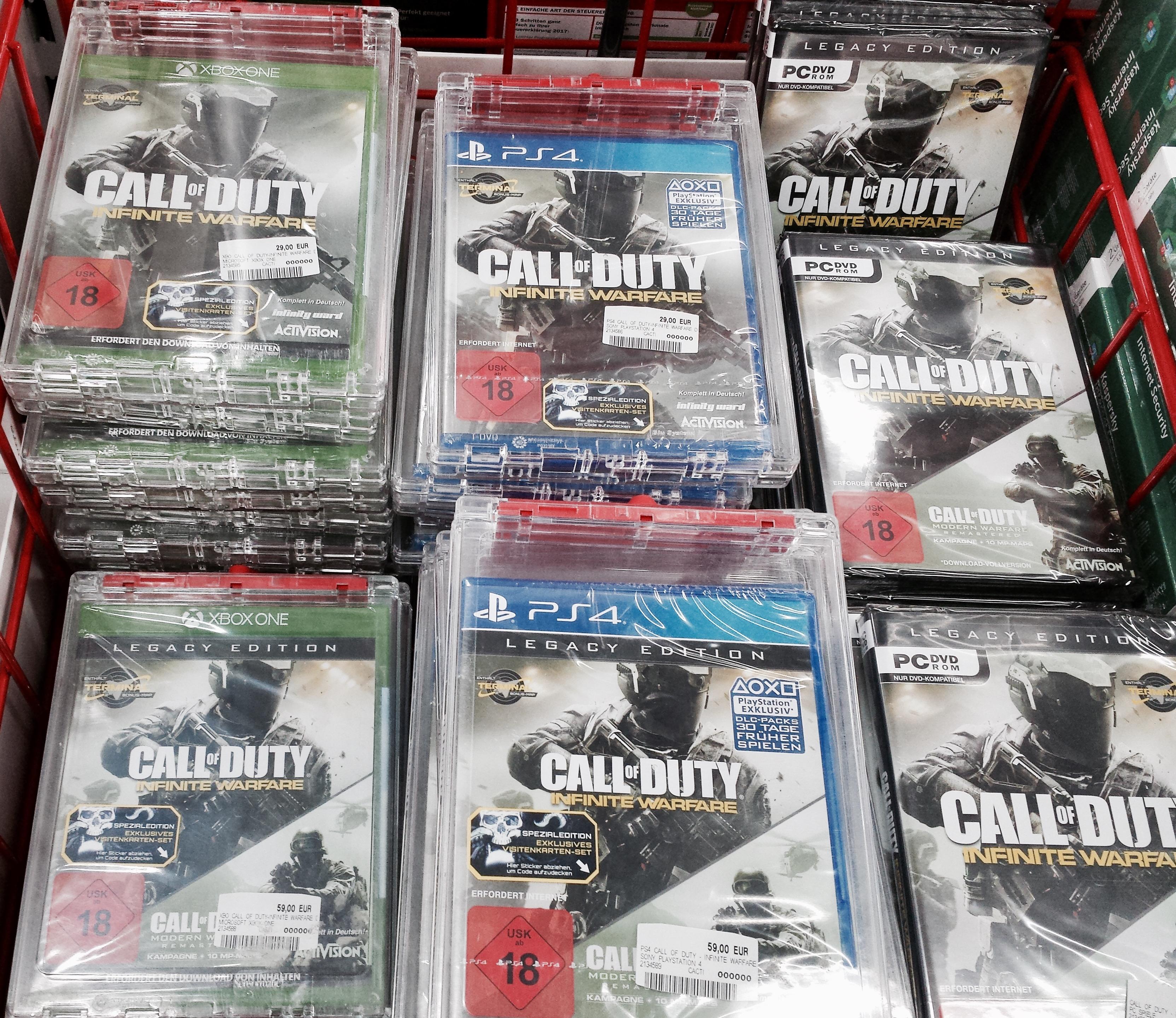 (Offline und Online Media Markt/EBay) Bundesweit Call of Duty Infinite Warefare für 29€ (Xbox/PS4/PCs)