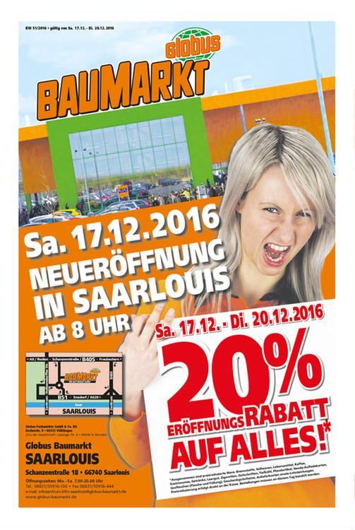[LOKAL mit TPG teilweise Bundesweit] 20% auf ALLES im Globus Baumarkt Saarlouis z.b. Bosch GSR 18-2 LI Plus wieder für 126,02