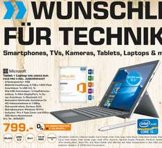 Saturn Osnabrück Lokal- Microsoft Surface Pro 4 (i5,4GB,128 GB SSD) incl. Type Cover, Stift und Office 365 Personal