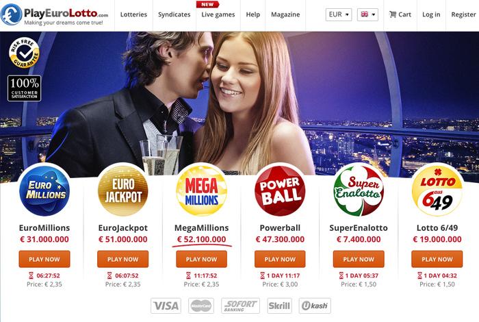 [playeurolotto.com] 3€ kostenloses Guthaben für Bestandskunden (z.B. 1x Euro Jackpot oder 2x Lotto gratis)