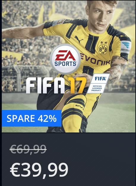 FIFA 17 im PS Store für 39,99€