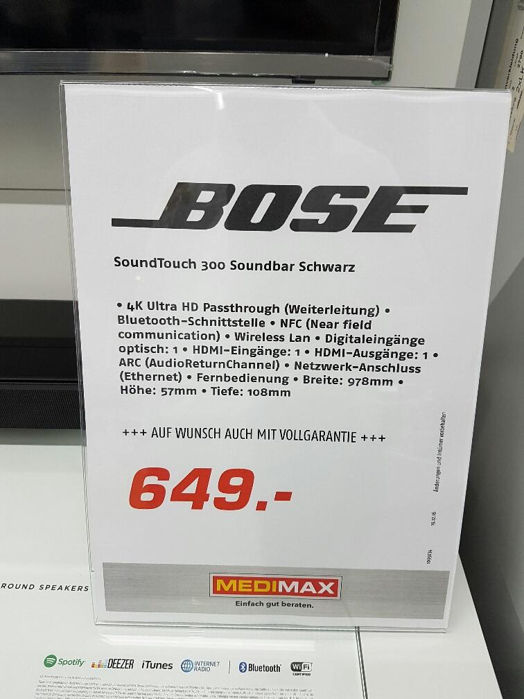 [Medimax Oberhausen] BOSE Soundtouch 300
