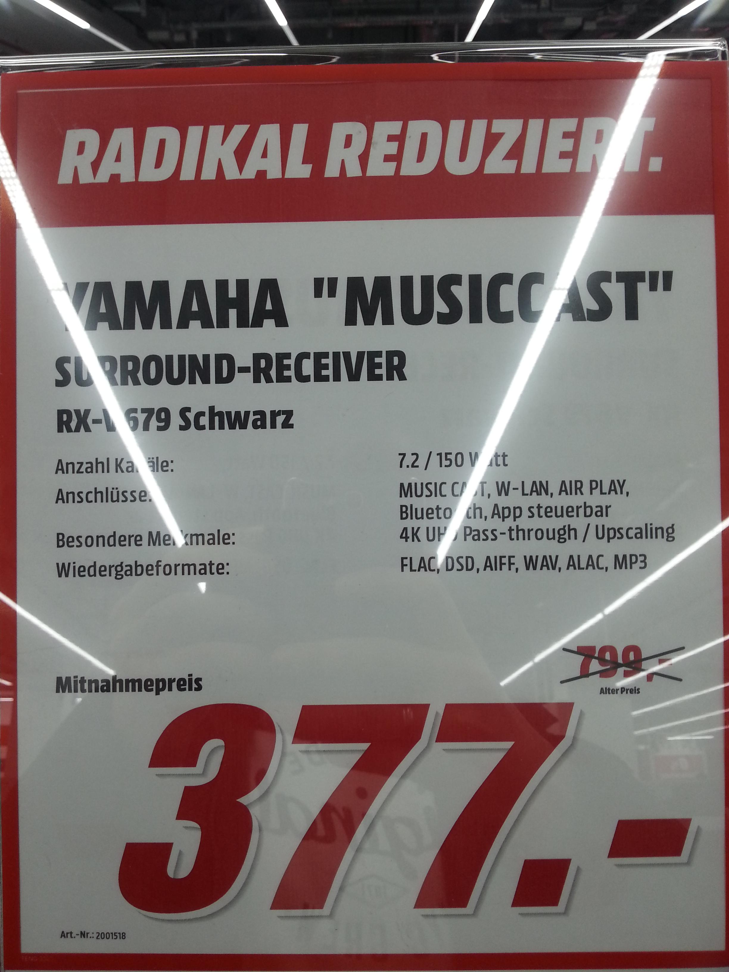 [MediaMarkt] evtl. lokal Alexa Yamaha RX-V679 A/V Reciver